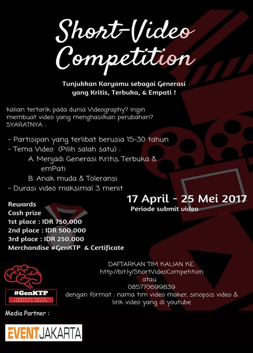 Short Video Competition GenKTP, Periode 17 April - 25 Mei 2017