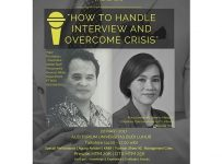 Talkshow: How Handle Interview and Overcome Crisis - Universitas Budi Luhur, 22 Mei 2017