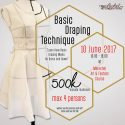 "Workshop ""Basic Draping Technique"" - Merachel Art and Fashion Course, 10 Juni 2017"