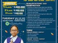 Erlangga English Speech & Debate Contest for Junior High School - Fashion Atrium Kota Kasablanka, 18 Juli 2017