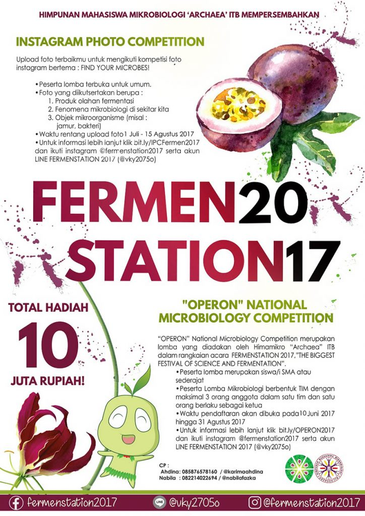 "Fermesntation 2017 : Instagram Photo Competiton and Operon ""National Microbiology Competition"""