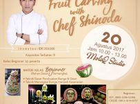 Fruit Carving Class with Chef Shinoda - MoleQ Studio Expo-Sure Jakarta, 20 Agustus 2017