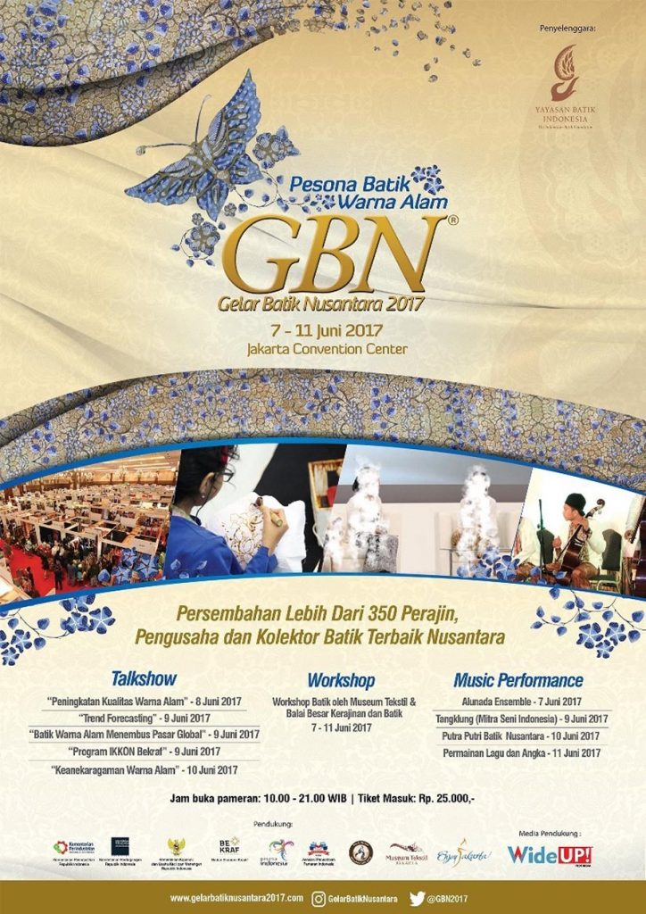 Gelar Batik Nusantara (GBN) - Jakarta Convention Center, 7 - 11 Juni 2017