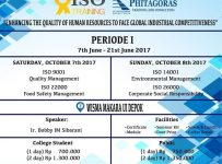 ISO Training UI - Wisma Makara Universitas Indonesia, 7 - 8 Oktober 2017