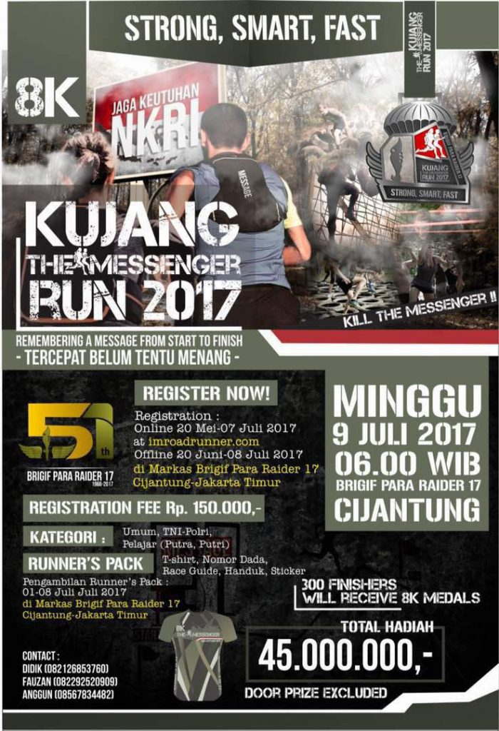 Kujang The Messenger Run - Markas Brigif Para Raider 17 Cijantung, 9 Juli 2017