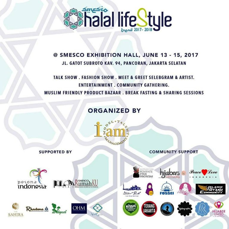 SMESCO Halal Lifestyle Trend 2017-2018 - SMESCO Convention Hall Jakarta, 13 - 15 Juni 2017