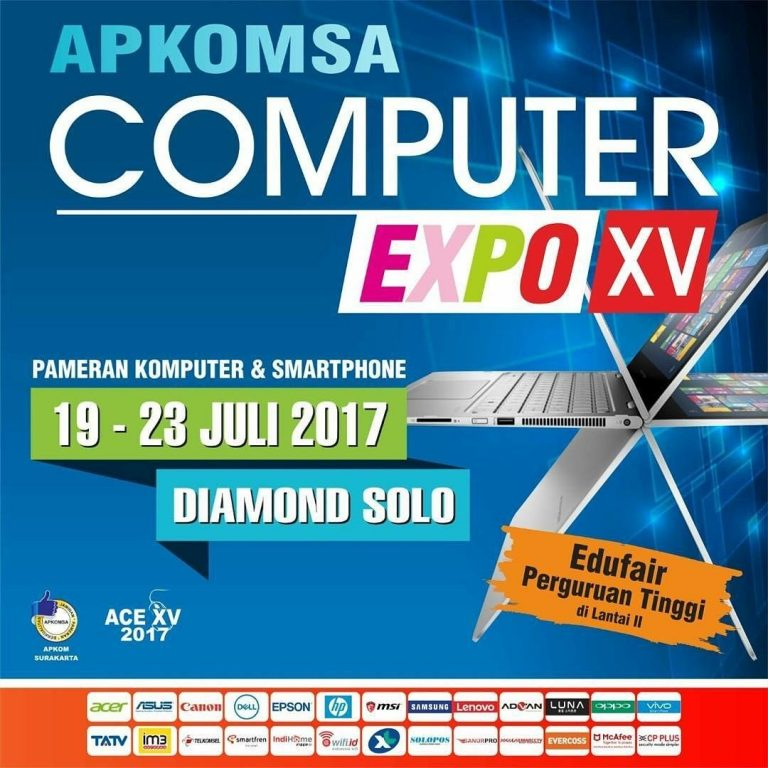 Apkomsa Computer Expo - Diamond Solo Convention Center, 19-23 Juli 2017