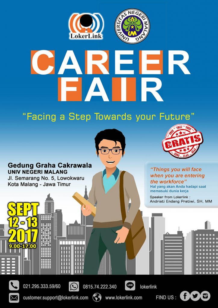 Career Fair LokerLink - Graha Cakrawala Universitas Negeri Malang, 12-13 Sept 2017