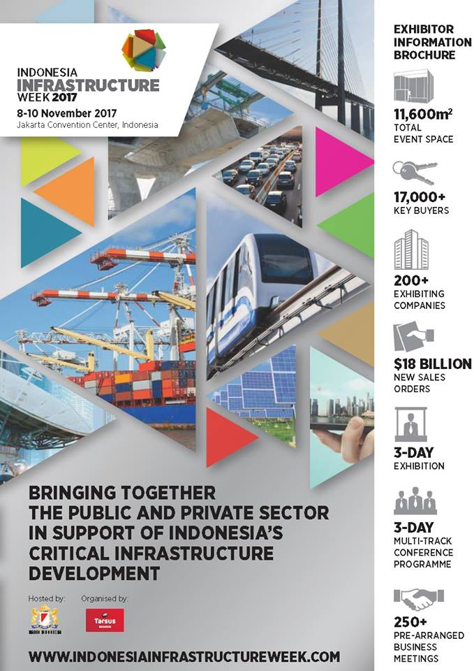 Indonesia Infrastructure Week - Jakarta Convention Center (JCC), 8-10 November 2017