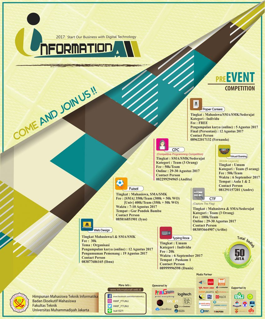 "InformationALL 2017 ""Start Our Business with Digital Technology"" - FTI UMJ"