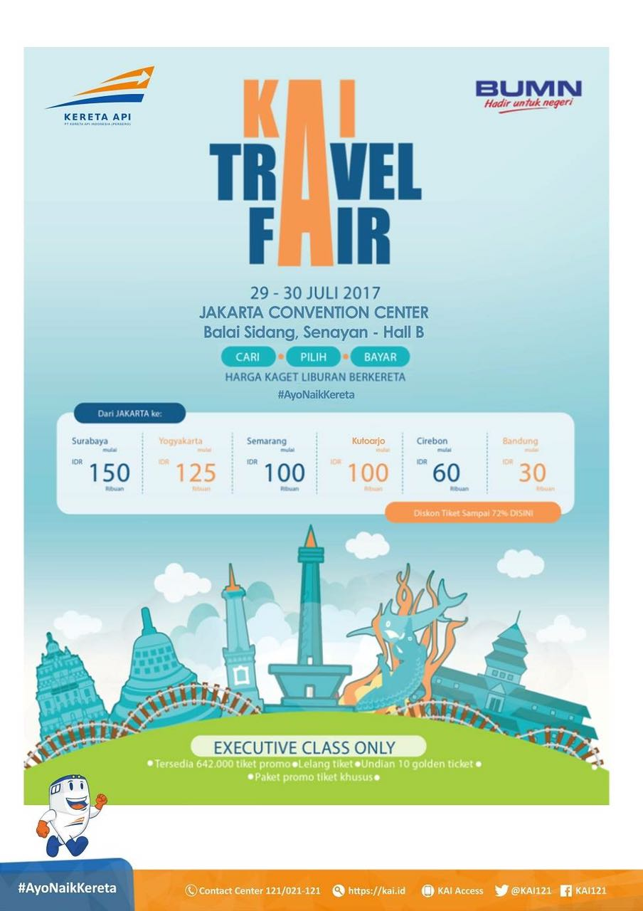 KAI Travel Fair - Jakarta Convention Center (JCC), 29-30 Juli 2017