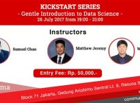 Kickstart Series: Gentle Introduction to Data Science - BLOCK71 Jakarta, 26 Juli 2017