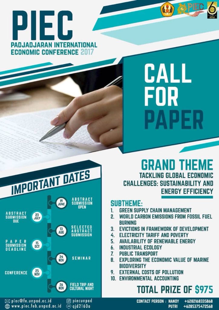 Padjadjaran International Economic Conference 2017 - Universitas Padjadjaran