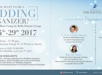 Wedding Organizer Class by Bella Donna The Institute - Jakarta, 24-29 Juli 2017