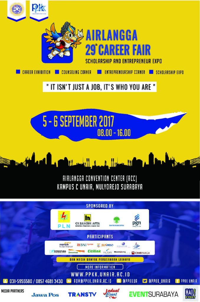 Airlangga Career Fair 29th - Airlangga Convention Centre, 05 - 06 September 2017