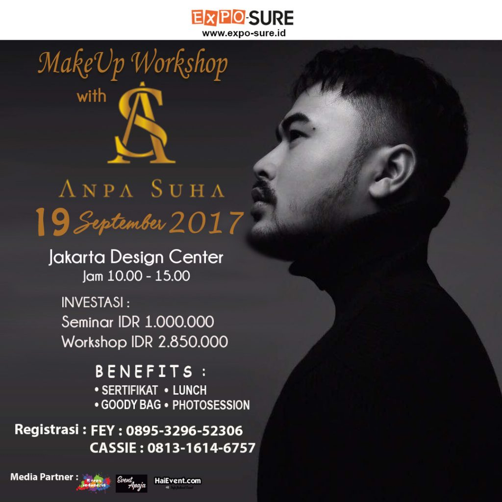 Beauty Workshop bersama Anpa Suha - Jakarta Design Center, 19 September 2017