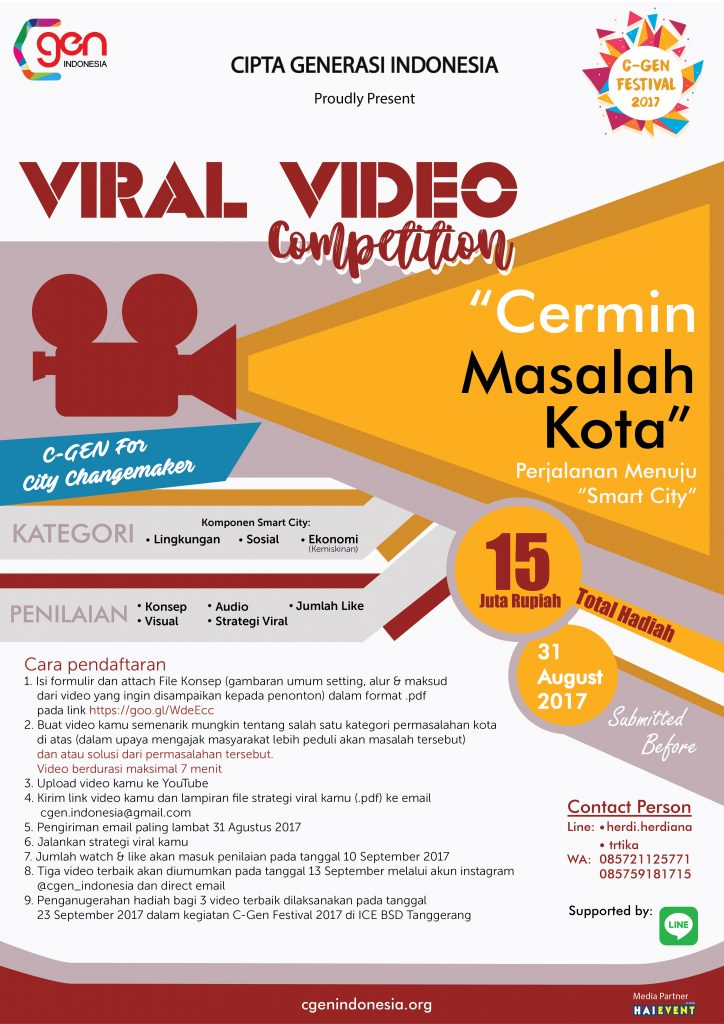 C-Gen Viral Video Competition, Periode 1-31 Agustus 2017