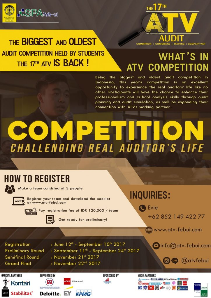 FEB UI : The 17th Audit Competition, Conference, Training, and Company Visit (ATV)