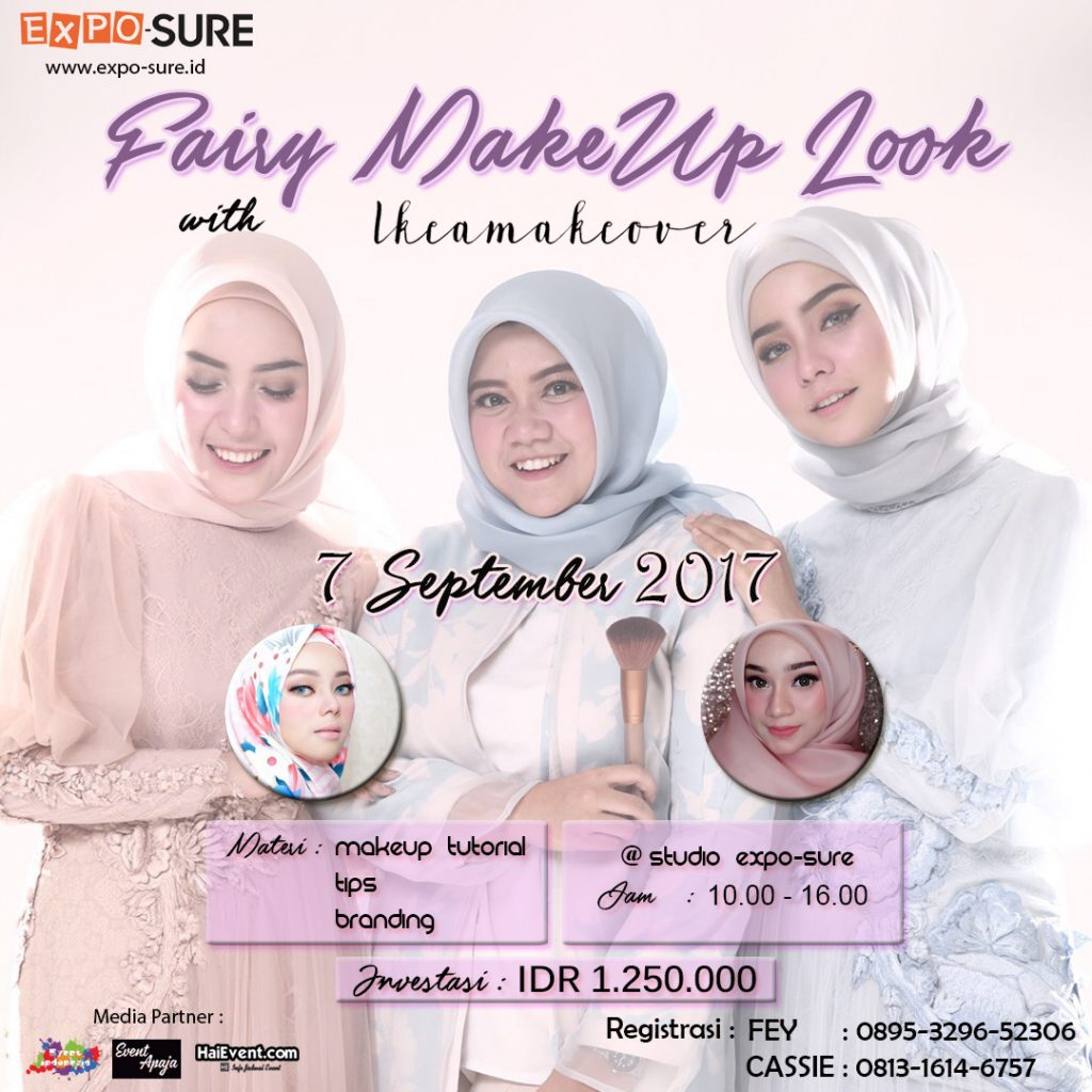Fairy Wedding Makeup Bersama @ikeamakeover - MoleQ Studio Expo-Sure, 16 September 2017