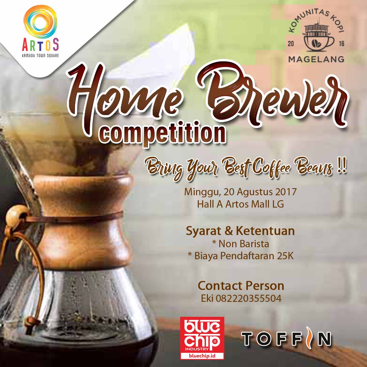Home Brewer Competition - Artos Mall Magelang, 20 Agustus 2017