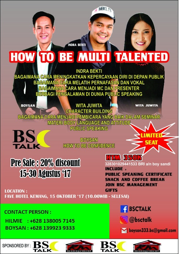 How to be Multi Talented - Favehotel Kemang Jakarta, 15 Oktober 2017