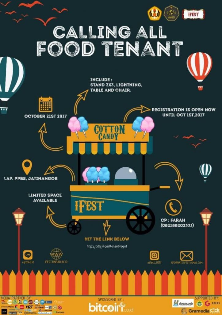 Informatics Festival 2017 Calling All Food Tenant Inscape