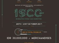 Information System Case Competition - Binus International University, 20-21 Oktober 2017