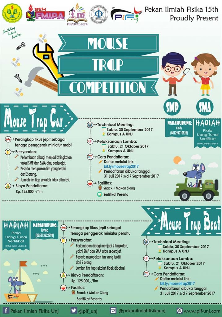 PIF UNJ : Mouse Trap Competition 2017