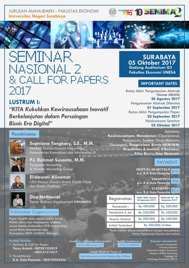 Seminar Nasional 2 & Call Papers 2017 - Universitas Negeri Surabaya