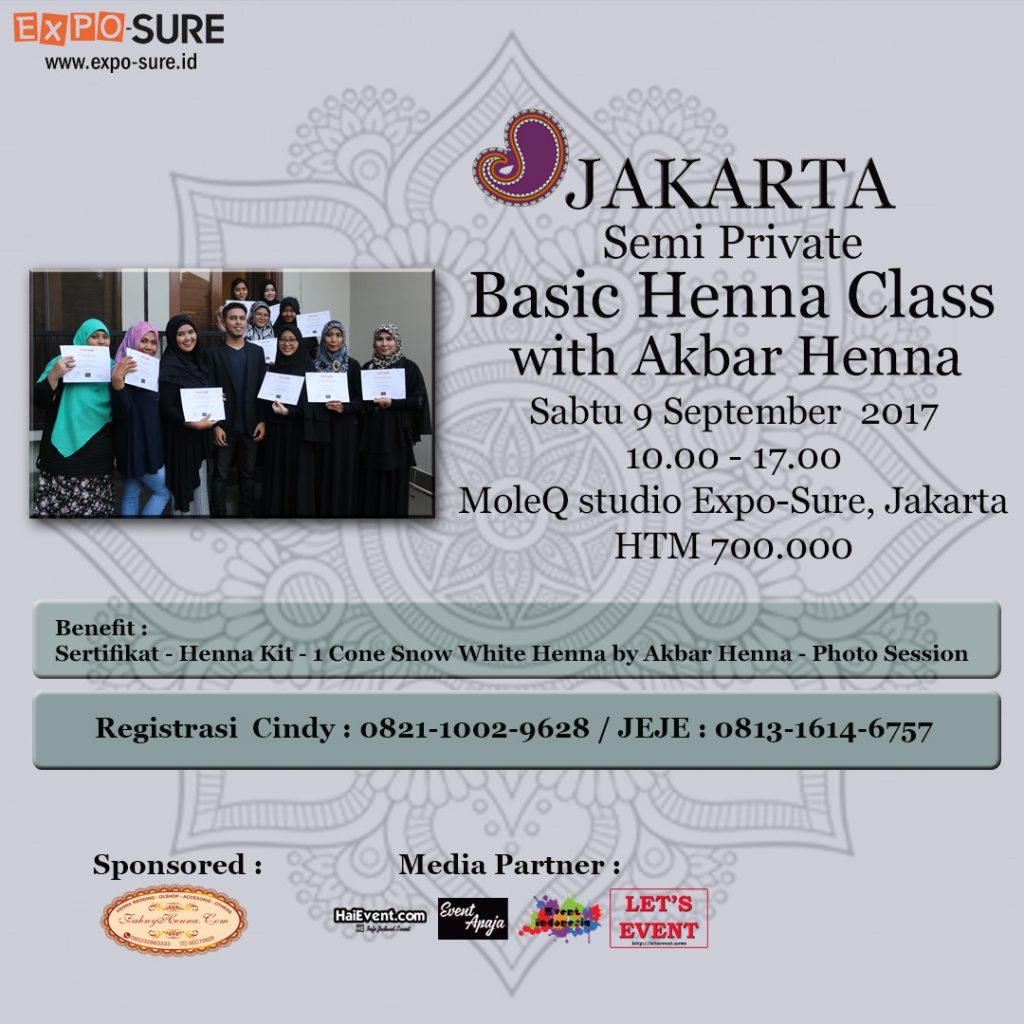 Workshop Henna Bassic - MoleQ Studio Expo-Sure, 09 September 2017