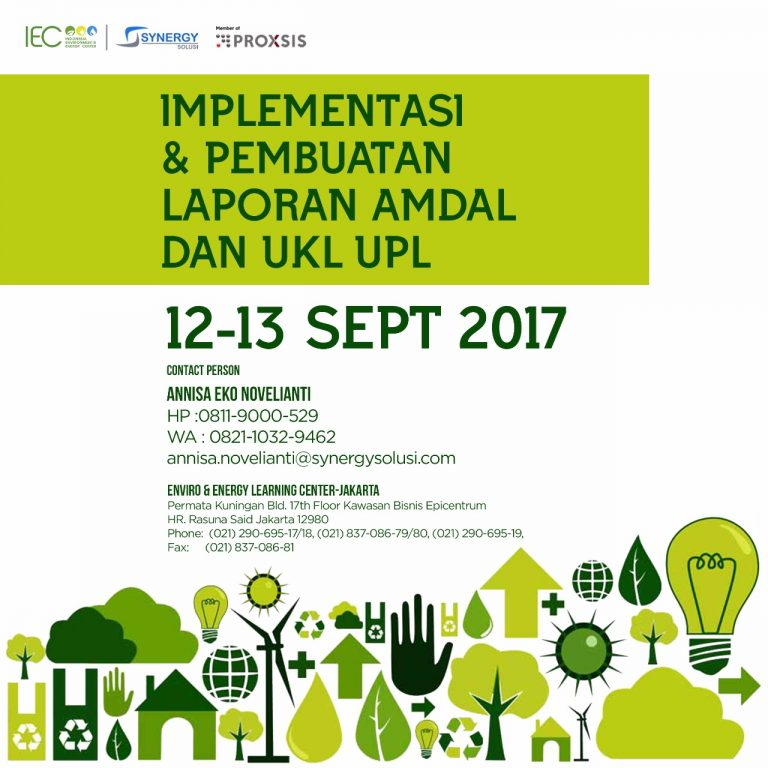 Workshop Pengelolaan Limbah B3 - IEC Training Center Jakarta, 12-13 September 2017