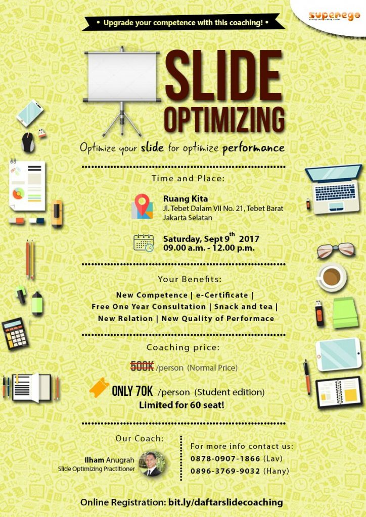 Workshop Slide Optimizing - Ruang Kita Tebet, 9 September 2017