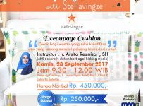 Crafting Class Decoupage Cushion Workshop - Simprug Gallery Jakarta, 28 September 2017