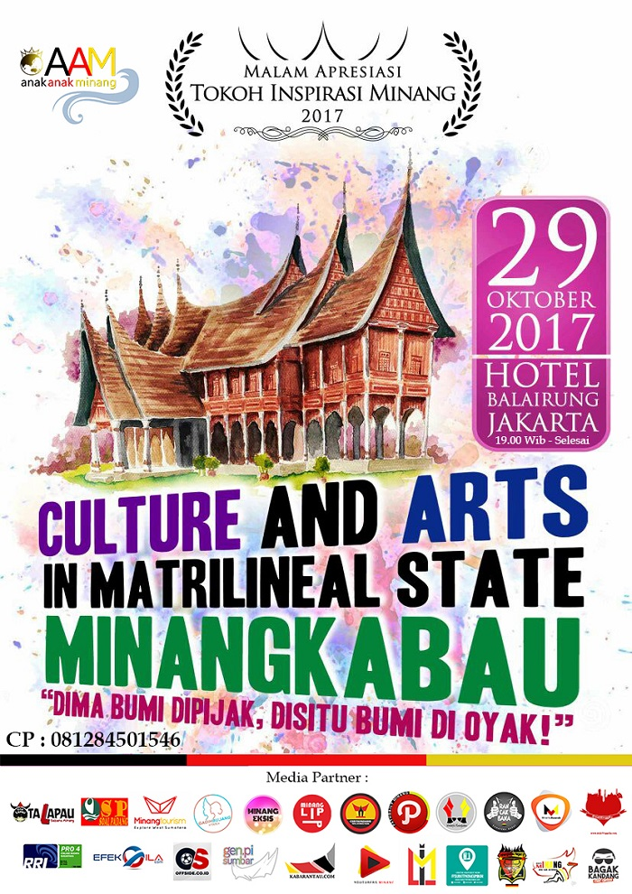Culture and Art Matrilineal State of Minangkabau - Hotel Balairung Jakarta, 29 Oktober 2017