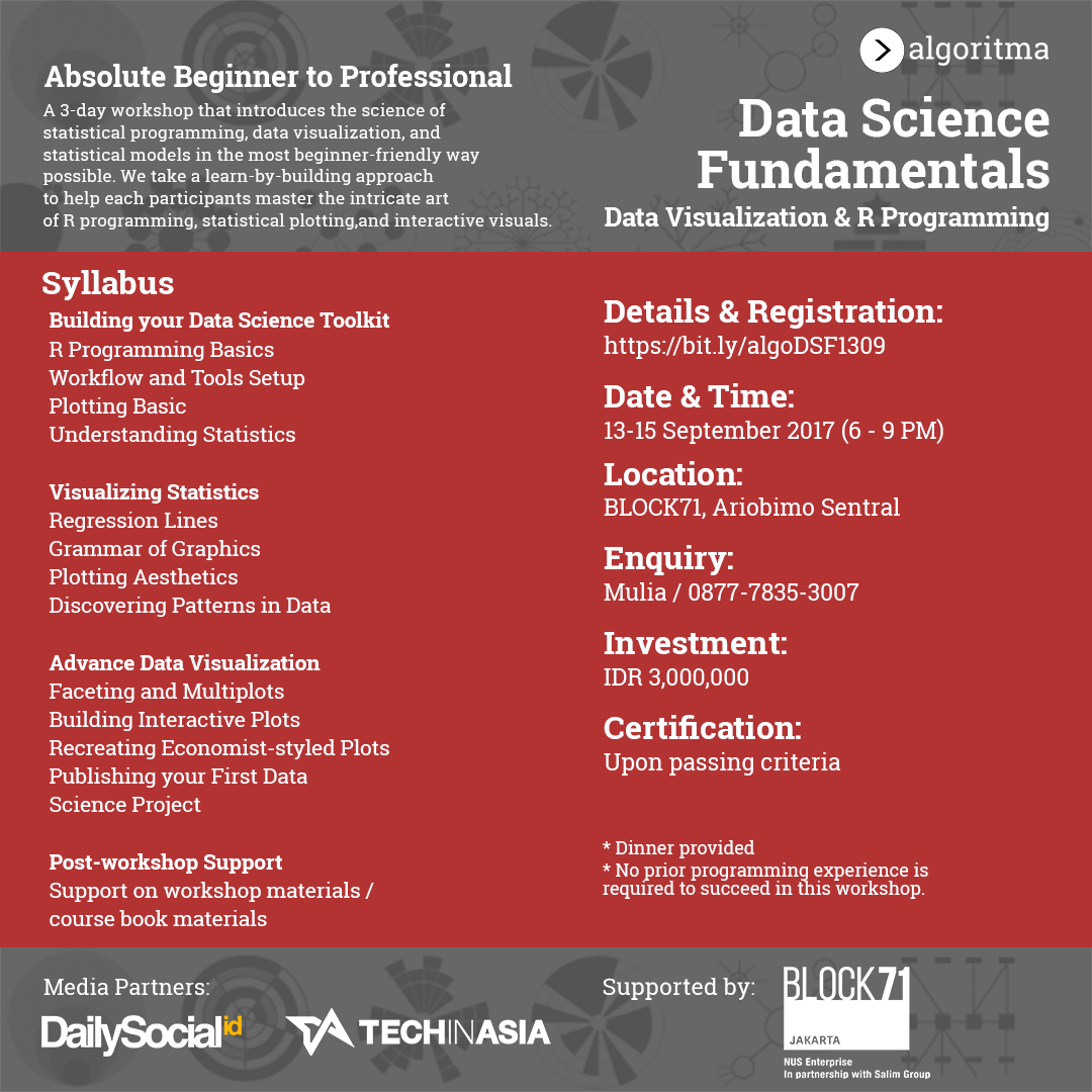 Data Science Fundamentals: Data Visualization - Jakarta, 13-15 September 2017