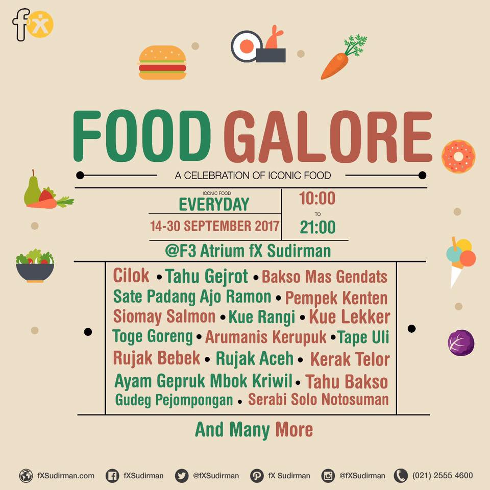 Food Galore - fX Sudirman Jakarta, 14-30 September 2017