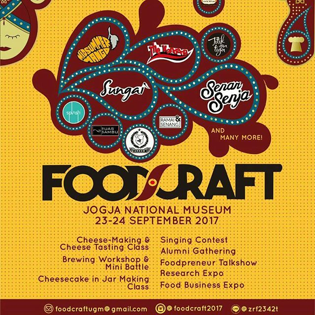 "Foodcraft ""Explore, Eat, Enjoy"" - Jogja National Museum, 23-24 September 2017"