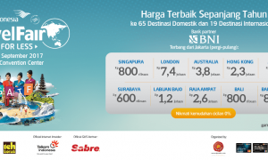 Garuda Indonesia Travel Fair - Jakarta Convention Center (JCC), 22-24 September 2017