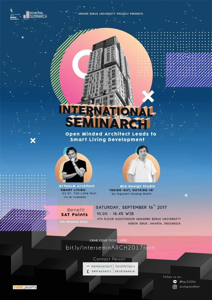 International Seminarch - Binus University, 16 September 2017
