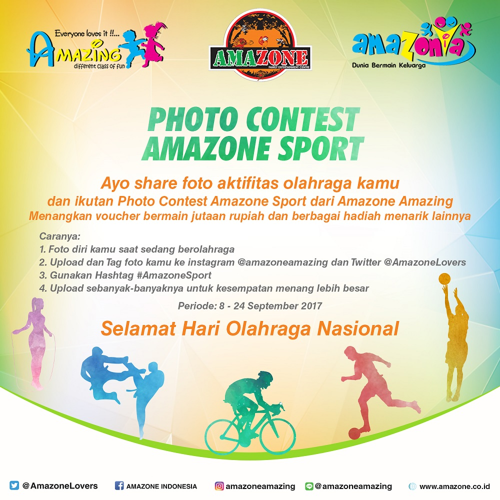 Photo Contest Amazone Sport, Periode 8-24 September 2017