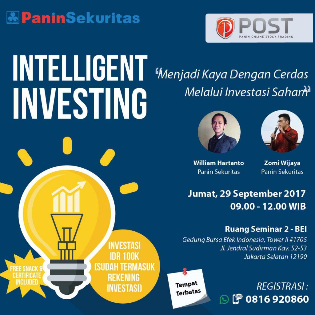 Seminar Intelligent Investing - Bursa Efek Indonesia (BEI), 29 September 2017