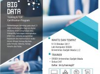 Training Big Data International Certification - Universitas Gadjah Mada, 9-13 Oktober 2017