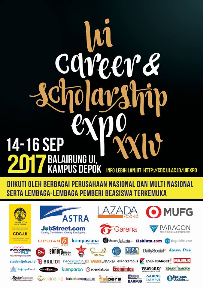 UI Career & Scholarship Expo XXIV - Kampus UI Depok, 14-16 September 2017