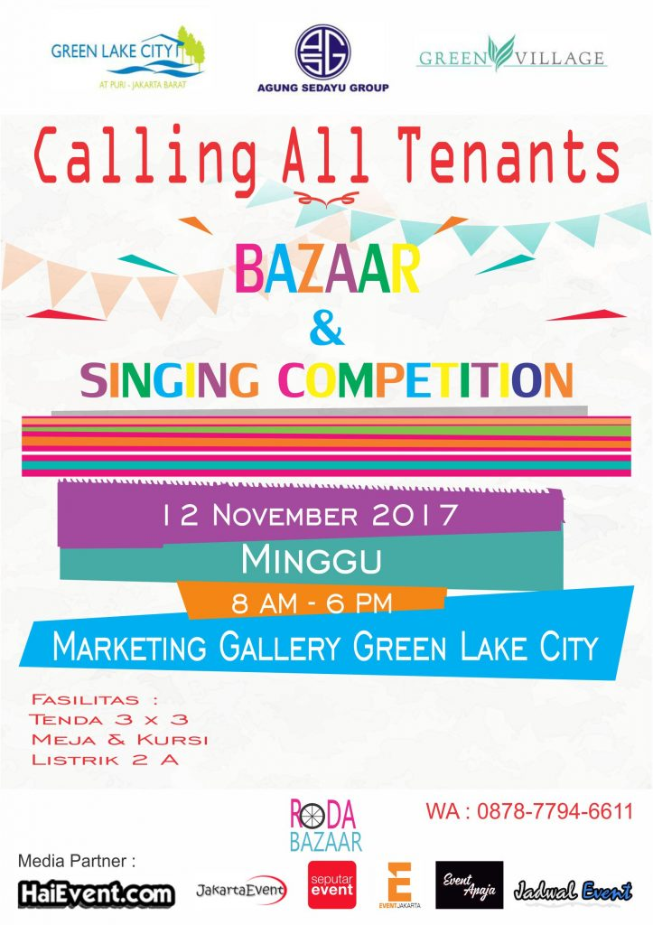 Bazaar & Singing Competition - Marketing Gallery Green Lake City, 12 November 2017