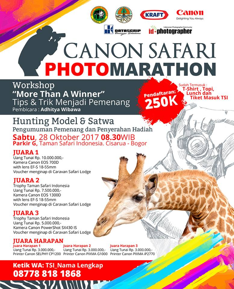 Canon Safari Photo Marathon - Taman Safari Indonesia, 28 Oktober 2017