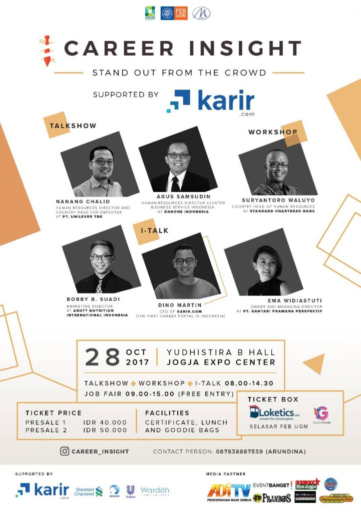"""Career Insight """"Stand Out from the Crowd"""" - Jogja Expo Center (JEC), 28 Oktober 2017"""