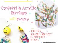 Confetti and Earring Workshop - Bandung, 14 Oktober 2017