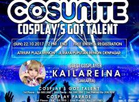 Cosunite Cosplay's Got Talent - Atrium Plaza Renon Bali, 22 Oktober 2017