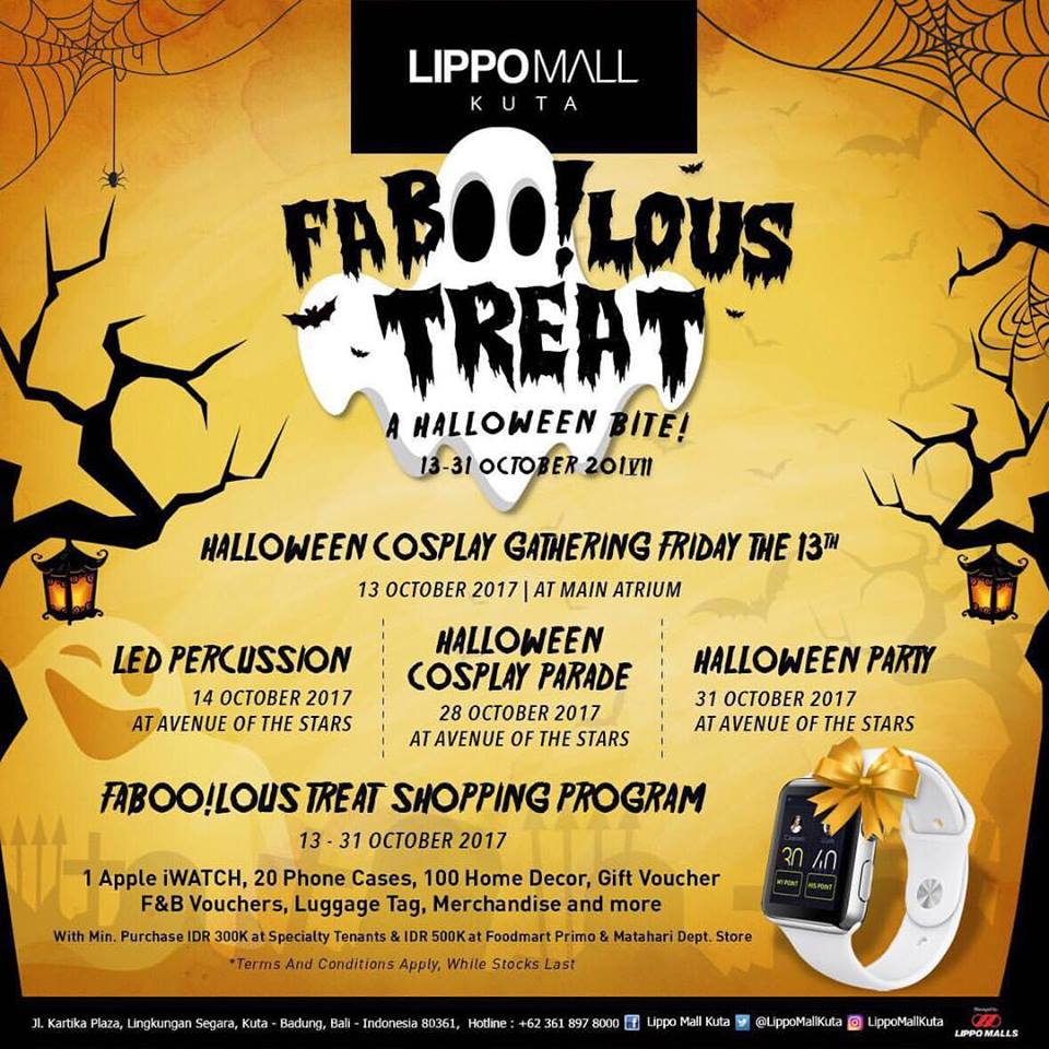 Faboolous Treat A Halloween Bite - Lippo Mall Kuta, 13-31 Oktober 2017