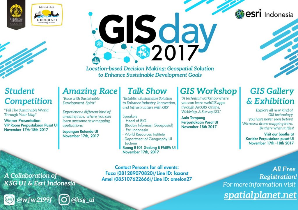 GIS DAY - Universitas Indonesia, 17 - 18 November 2017